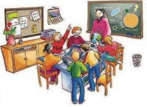 Salón de clases con maestra y estudiantes.png