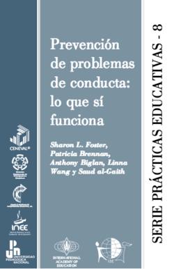 Prevención de problemas de conducta - serie prácticas educativas 8 - carátula.png