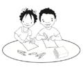 Niña y niño escriben en hojas.png