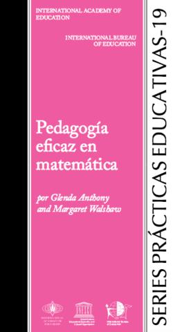 Pedagogía eficaz en matemática - serie prácticas educativas 19 - carátula.png