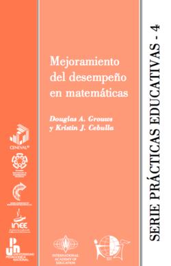 Mejoramiento del desempeño en matemáticas - serie prácticas educativas 4 - carátula.png