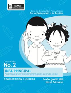 Idea principal - Sexto grado - carátula.png