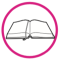 Icono libro círculo rosado.png