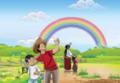 Ejemplo para escritura - padre y madre con hijos y arcoiris.png