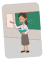 Maestra explica frente a pizarra - ExE lectura.png
