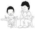 Dos niños sentados en pupitres.png