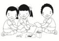 Niña y niños pintan con crayones.png