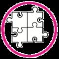 Icono rompecabeza círculo rosado.png