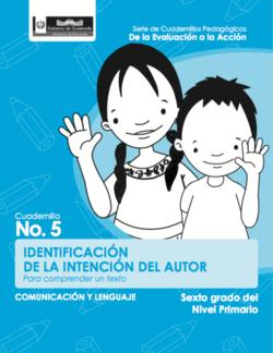 Identificación de la intención del autor - Sexto grado - carátula.png