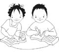 Niña y niño escriben en cuadernos.png
