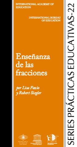Enseñanza de las fracciones - serie prácticas educativas 22 - carátula.png