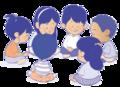 Niñas y niños sentados en círculo - ExE lectura.png