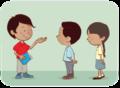 Dos niños y una niña conversan sobre lectura - ExE lectura.png