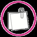 Icono clip círculo rosado.png