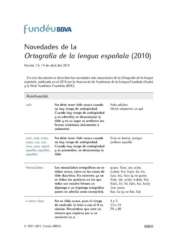 ortografia de la lengua española 2010 pdf descargar completo