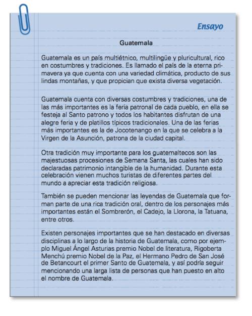 Ensayo (Herramienta pedagógica) - CNB
